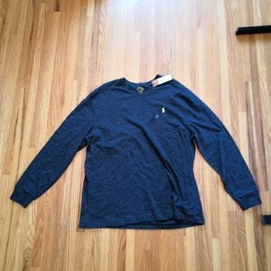 NWT Ralph Lauren Mens Long Sleeve. Large. Blue